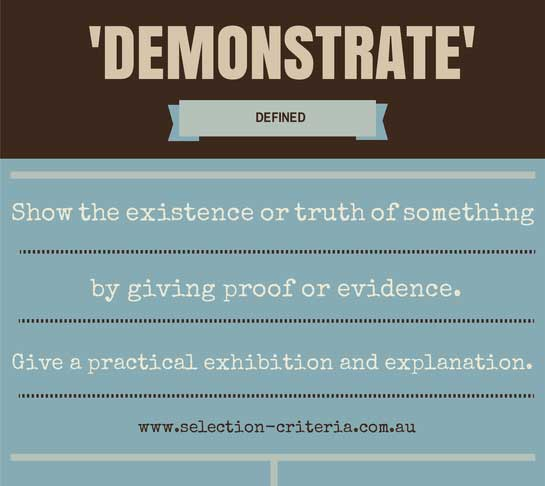 demonstrate definition