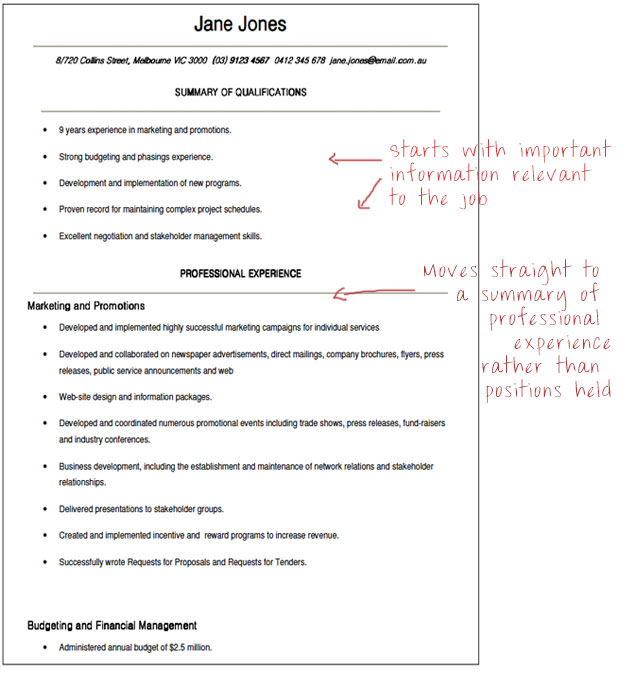 Government Resume Format | Resume Format And Resume Maker